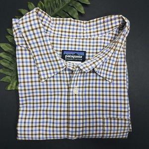 Padagonia short sleeve button down large